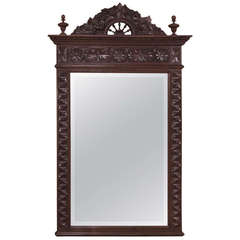 19th Century Country French Carved Mirror from Brittany ~ Sale ~