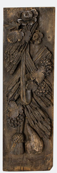 Antique Wood Paneling For Walls: Pair Antique Carved Wood Wall Panels At 1stdibs