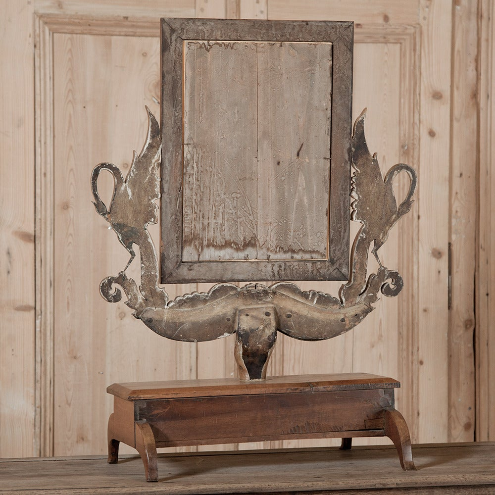 Antique Handcrafted Apple Wood Vanity Mirror At 1stdibs