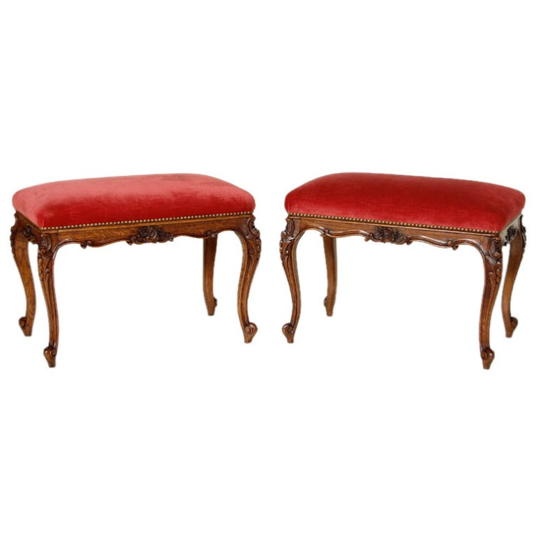 Pair antique vanity stools at 1stdibs - Antique vanity stools ...