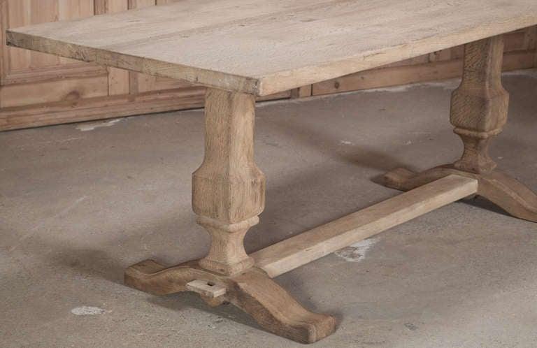 Vintage Oak Trestle Table 3