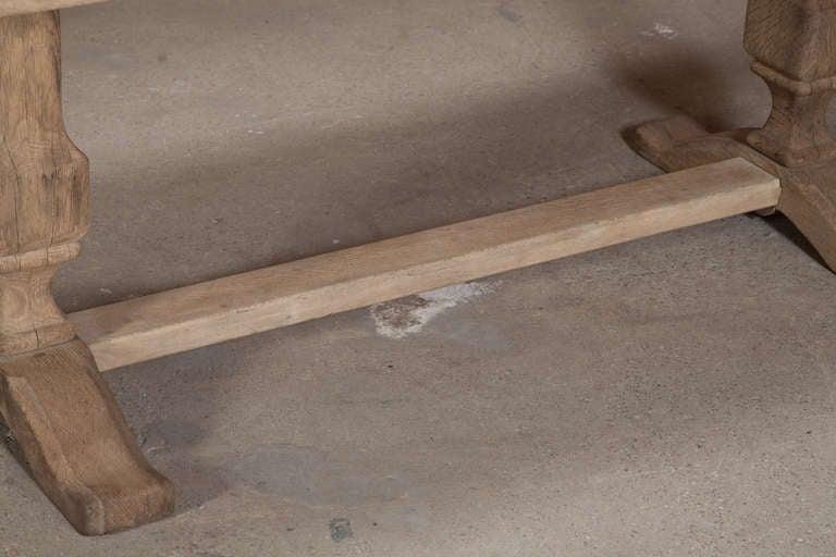 Vintage Oak Trestle Table 5