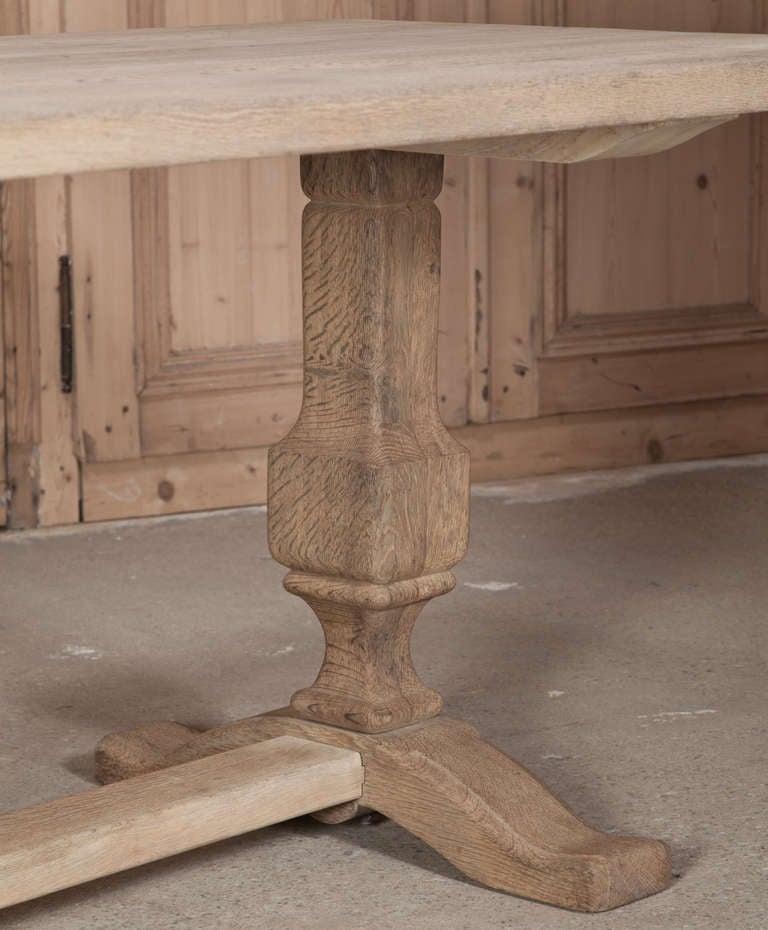 Vintage Oak Trestle Table 6