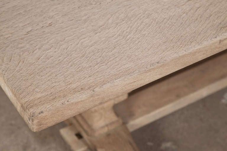 Vintage Oak Trestle Table 7