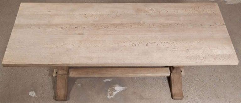 Vintage Oak Trestle Table 8