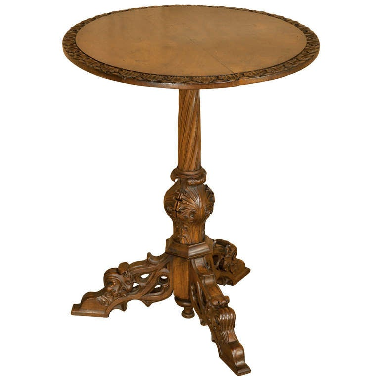Antique Gothic Walnut End Table at 1stdibs : 1124088l from www.1stdibs.com size 768 x 768 jpeg 33kB