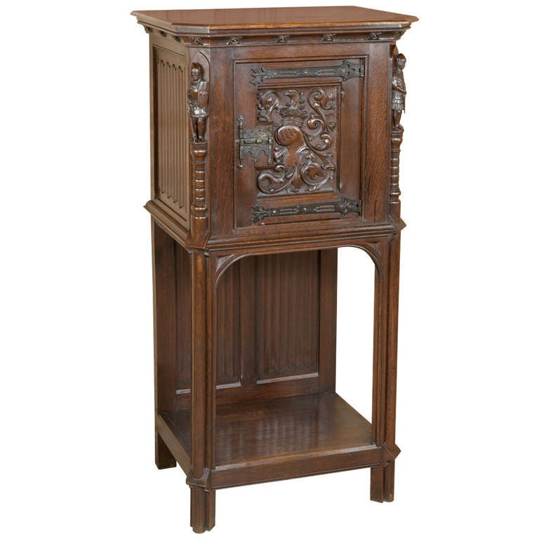 Antique Gothic Raised Cabinet At 1stdibs