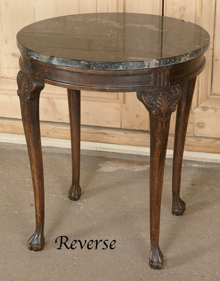Antique Solid Walnut Victorian Marble Top Parlor Side End ...  |Antique Marble Top End Tables