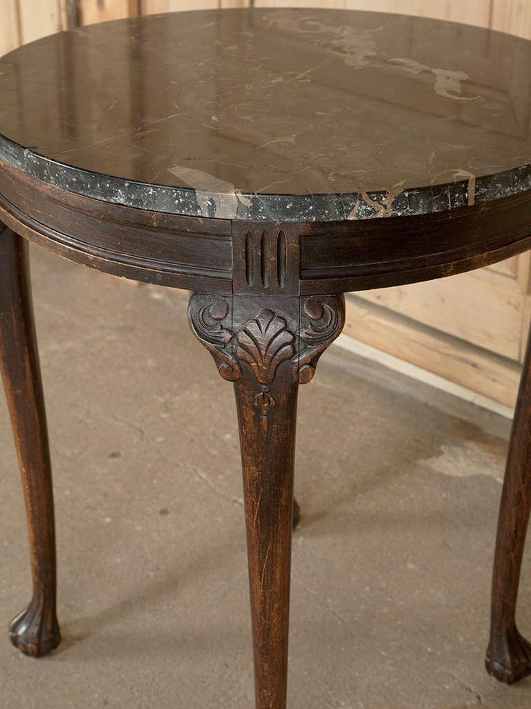 Antique Marble Top End Tables – Loccie Better Homes ...  |Antique Marble Top End Tables
