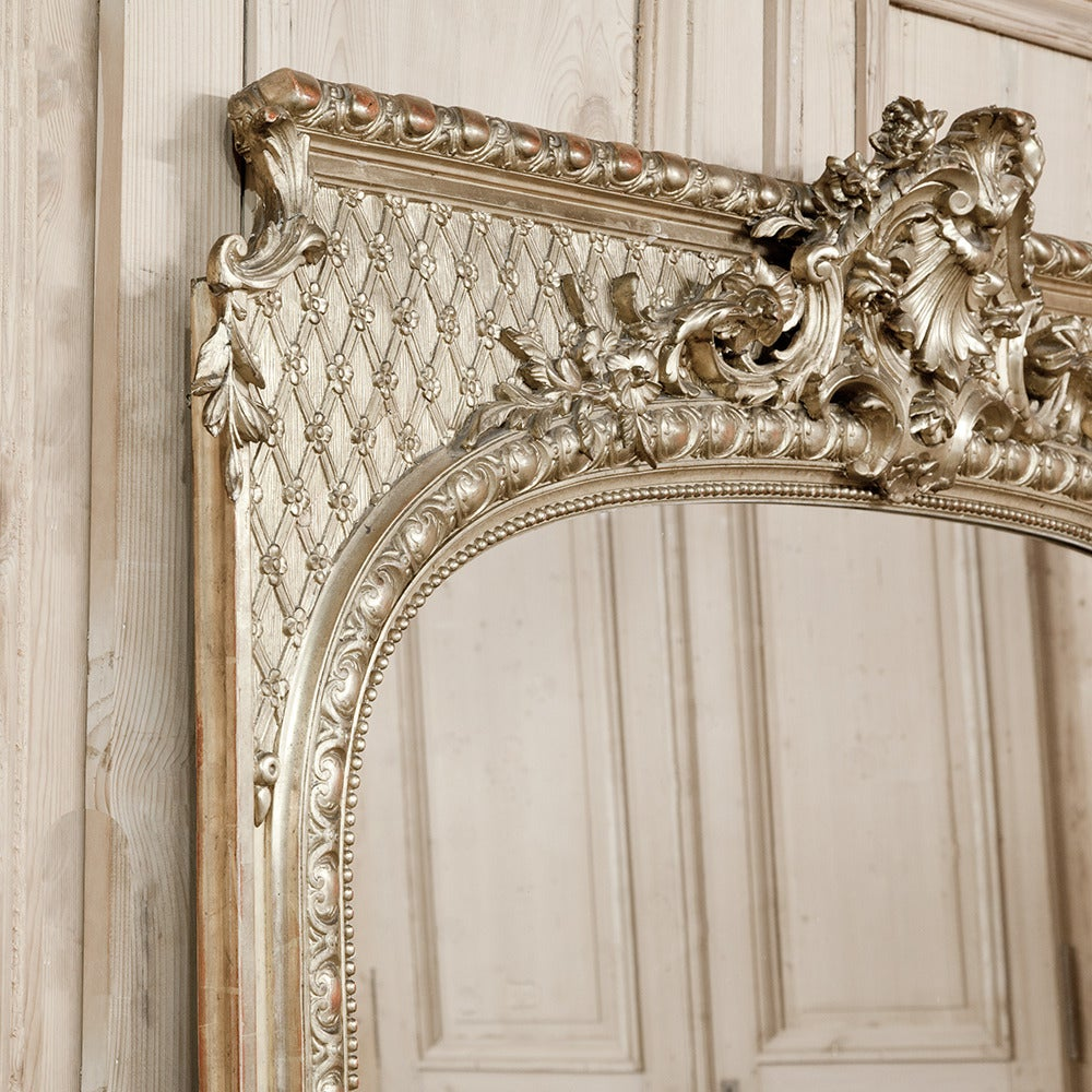 19th century french baroque gilded mirror at 1stdibs for Baroque mirror