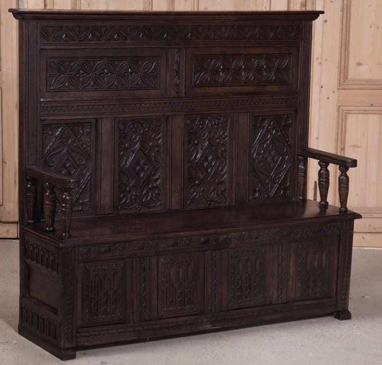 antique english hall bench at 1stdibs