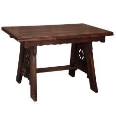 Antique Gothic Draw Leaf Table