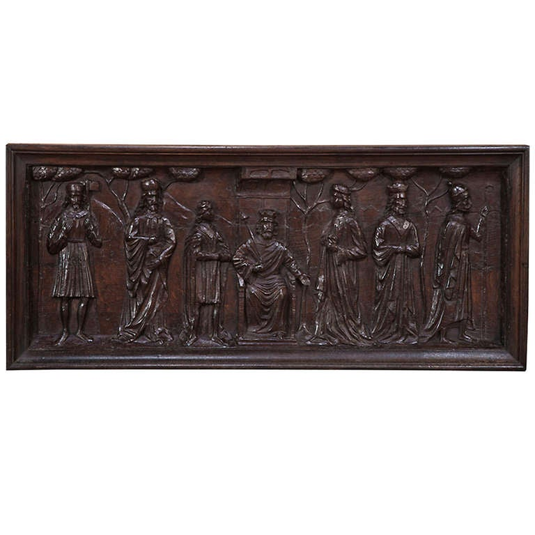 Antique hand carved wood frieze at stdibs