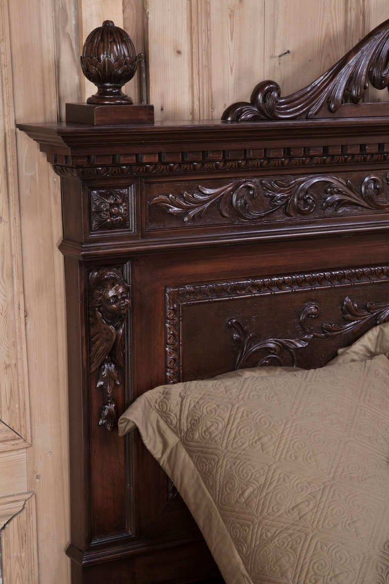 Italian renaissance walnut king bed at 1stdibs for L furniture more kelowna