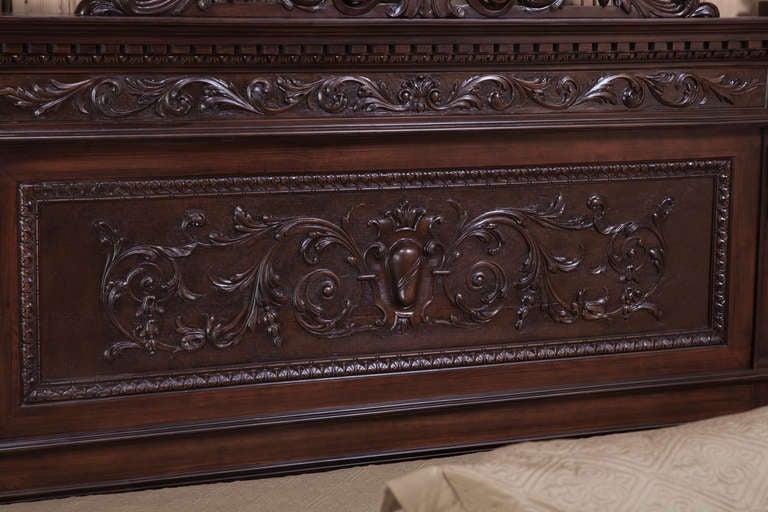 Italian Renaissance Walnut King Bed At 1stdibs
