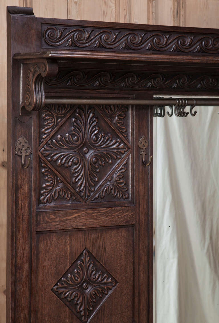 Antique Country French Hall Tree At 1stdibs