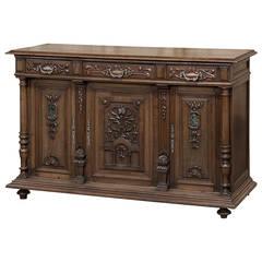 19th Century Antique French Renaissance Walnut Buffet