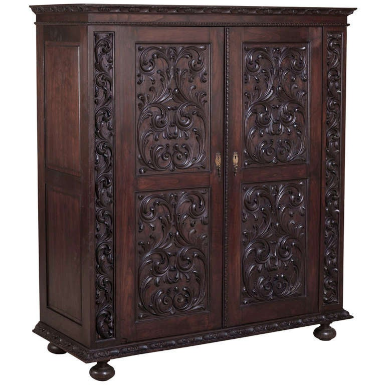 Antique Portuguese Baroque Armoire at 1stdibs -> Armoire Style Baroque