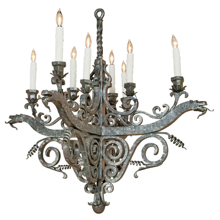 Vintage french medieval wrought iron chandelier at 1stdibs vintage french medieval wrought iron chandelier for sale aloadofball Gallery