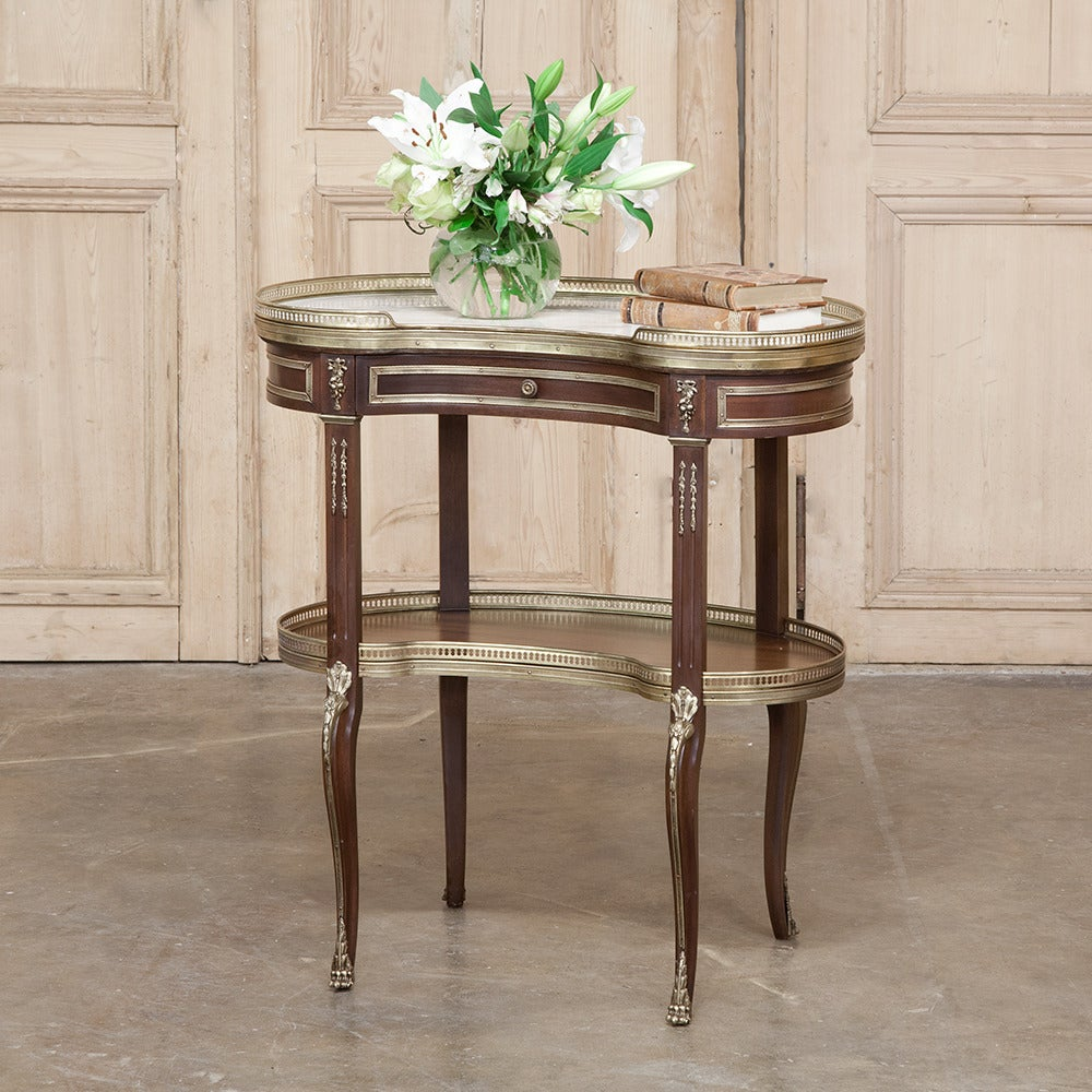 Marble Kidney Coffee Table: 19th Century Kidney Shape Marble-Top End Table At 1stdibs