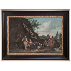 Antique 19th Century French Painting - Framed Oil on Canvas by Paul Ballaert