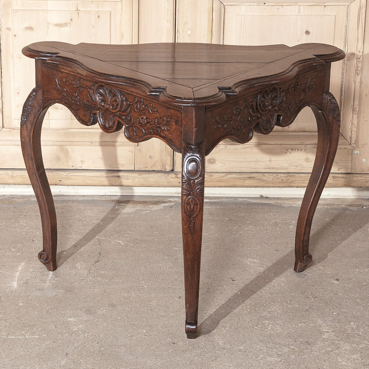 18th Century Country French Triangular End Table At 1stdibs