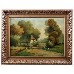 Vintage Framed Oil on Canvas