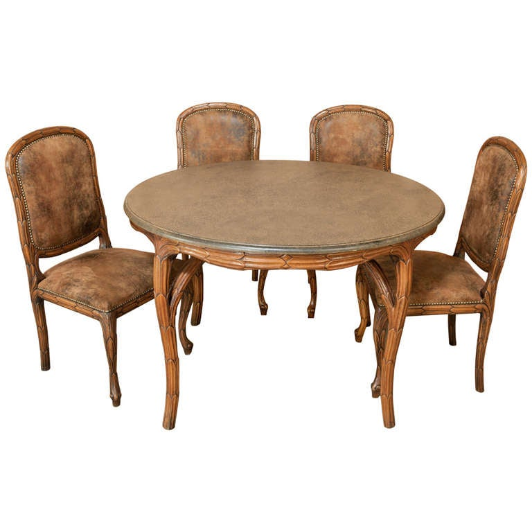Art Nouveau Game Table and Chairs Set at 1stdibs : 1243748l from www.1stdibs.com size 768 x 768 jpeg 46kB