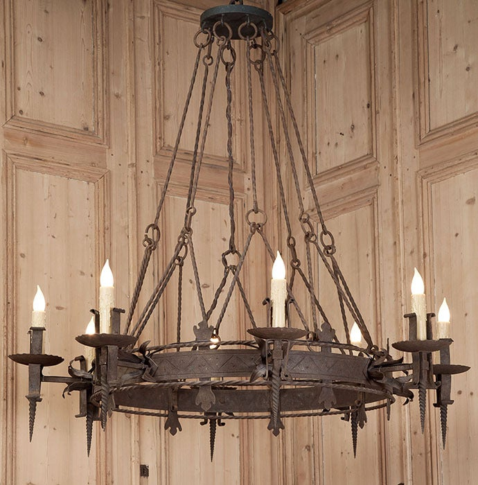 Antique Italian Gothic Iron Chandelier at 1stdibs