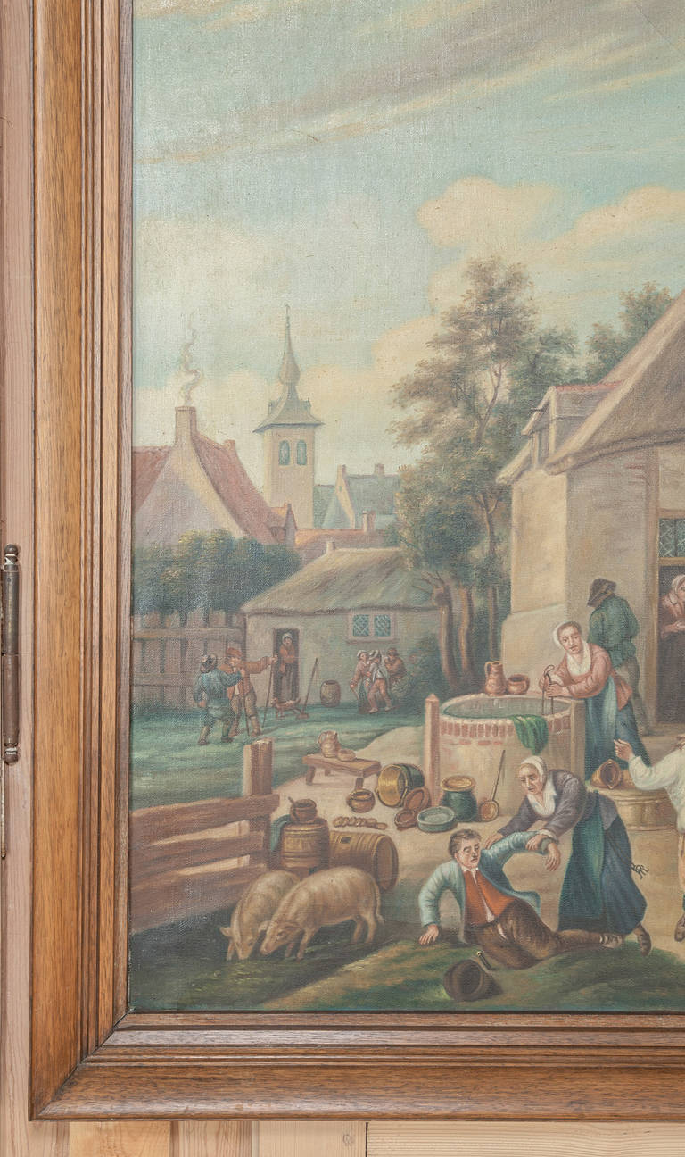 Antique Painting After David Teniers the Younger (1610-1690) by Jan Op De Beeck For Sale 1