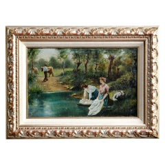 Antique Framed Oil on Canvas by J.Capelle ~ SUPER SALE ~