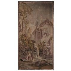 Antique Framed French Tapestry