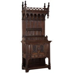 Antique Gothic Walnut Buffet