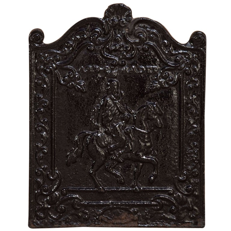 Antique cast iron fireback at 1stdibs - Firebacks for fireplaces ...