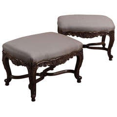 Pair Antique French Regence Footstools