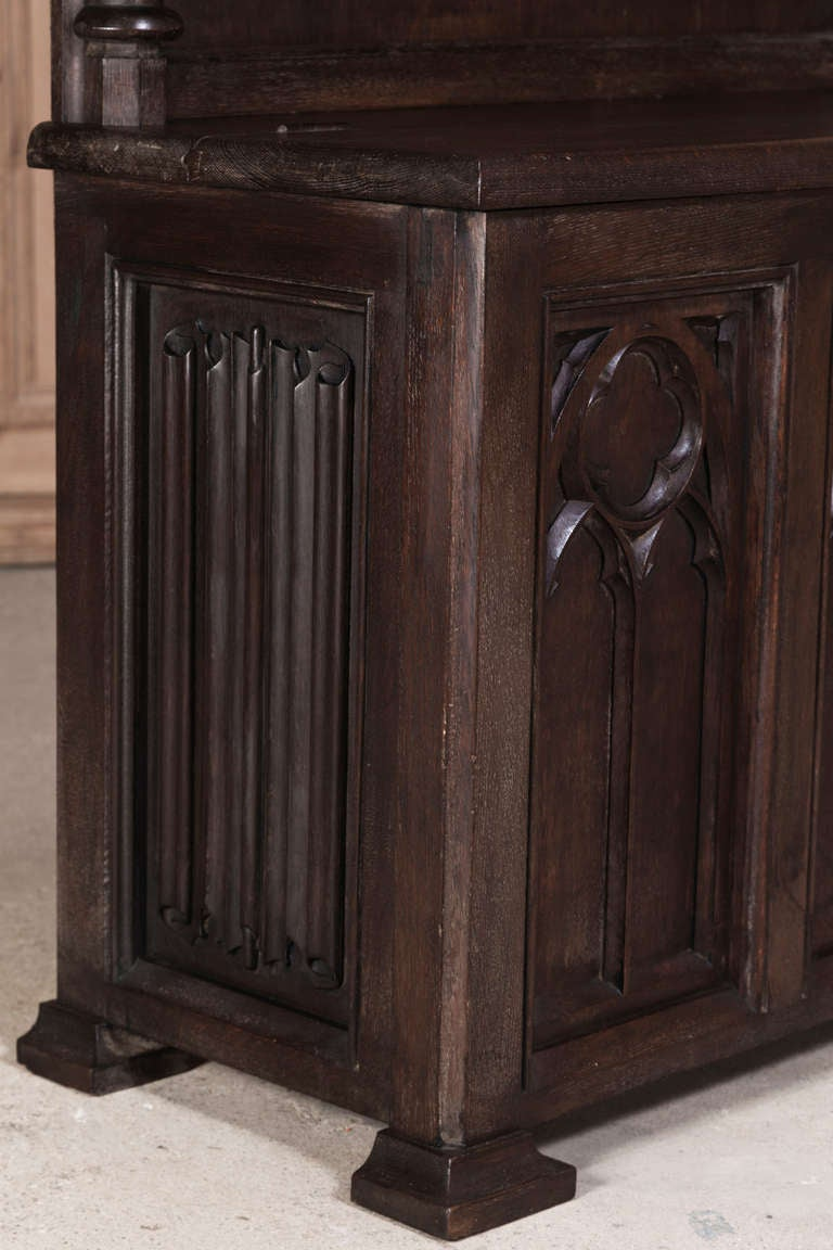 Antique Foyer Cabinet : Antique french gothic hall cabinet at stdibs