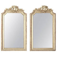 Pair of Antique French Louis XVI Gilded Mirrors