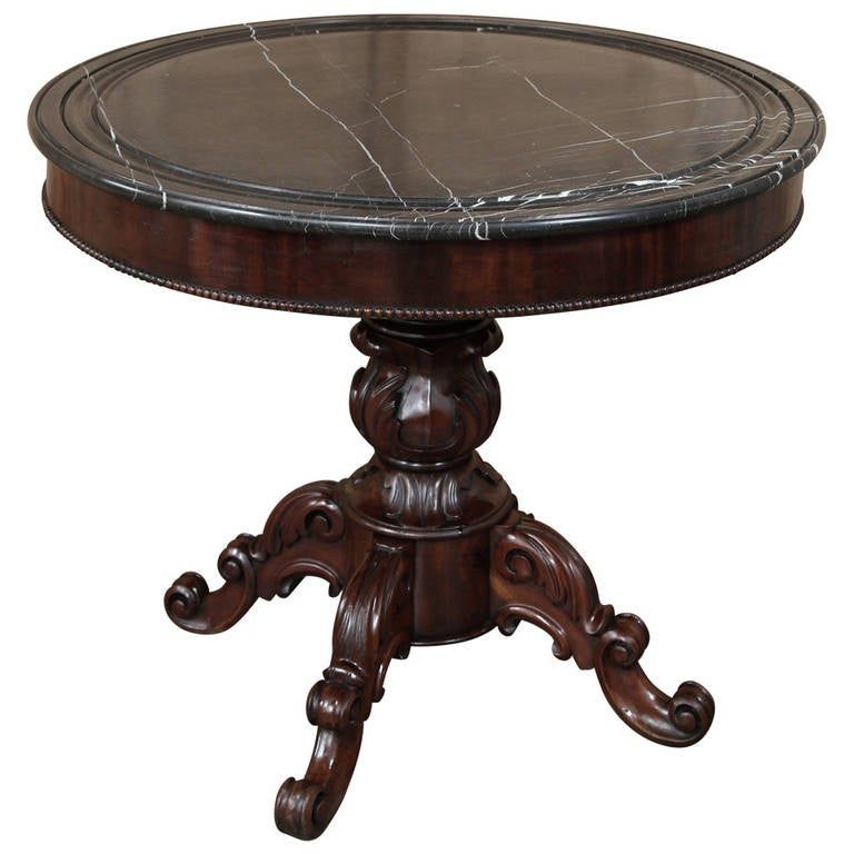 Antique french louis philippe center table at 1stdibs for Table ronde louis philippe