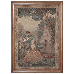 19th Century French Framed Needlepoint Tapestry