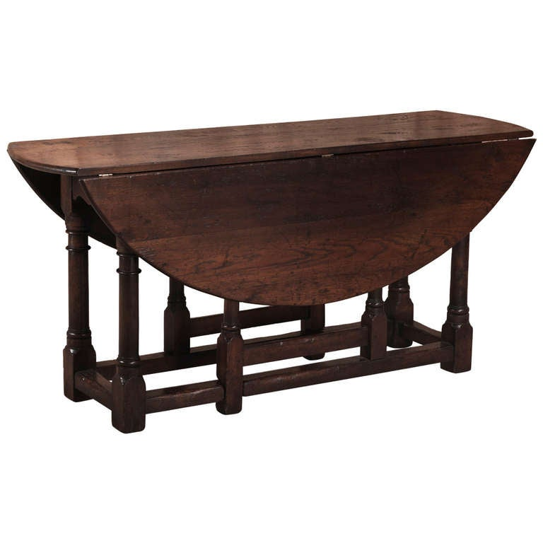 Antique Oval Drop Leaf Gateleg Table at 1stdibs : 985600l from www.1stdibs.com size 768 x 768 jpeg 34kB