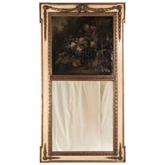 19th Century Louis XVI Painted and Gilded Trumeau