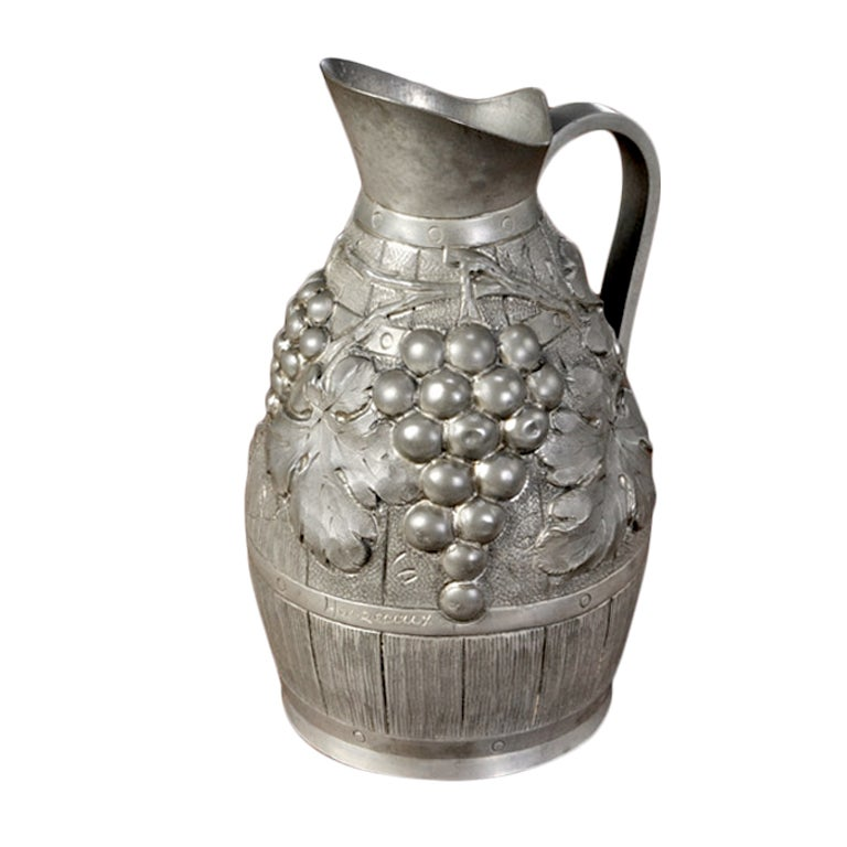 Antique Pewter Wine Pitcher At 1stdibs