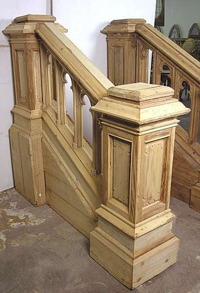 19th Century French Antique Grand Pair Of Stair Rails