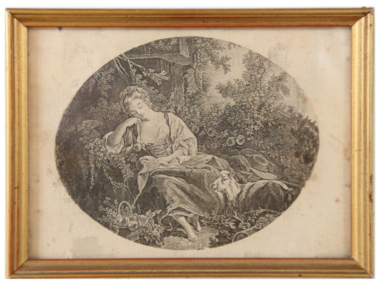 Set Of 8 Antique Framed Lithographs At 1stdibs