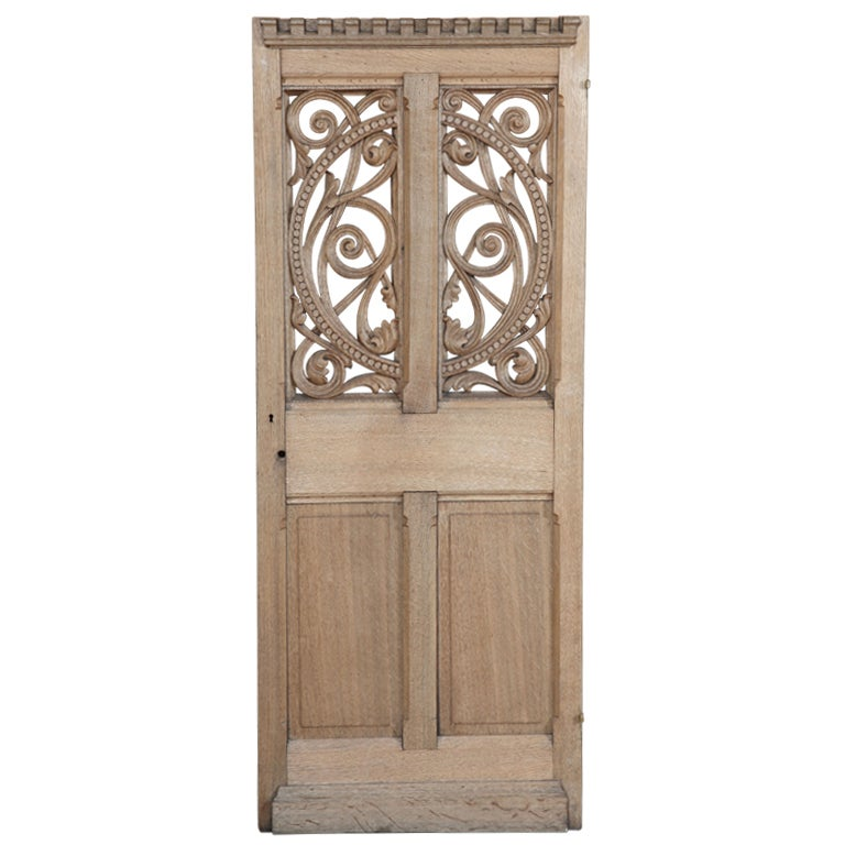 Antique French Gothic Pantry Door 1