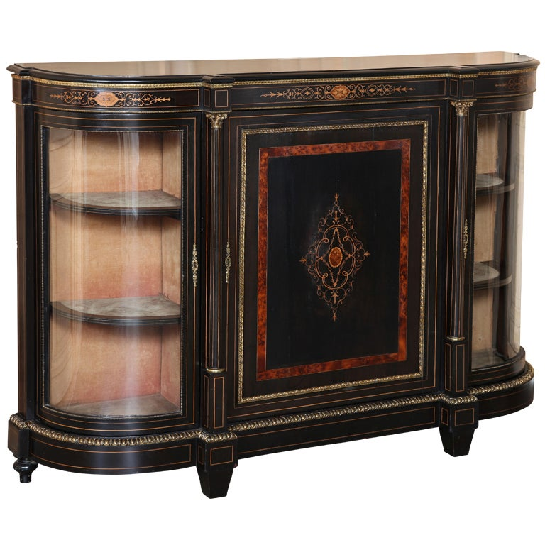 napoleon iii period inlaid display buffet at 1stdibs. Black Bedroom Furniture Sets. Home Design Ideas