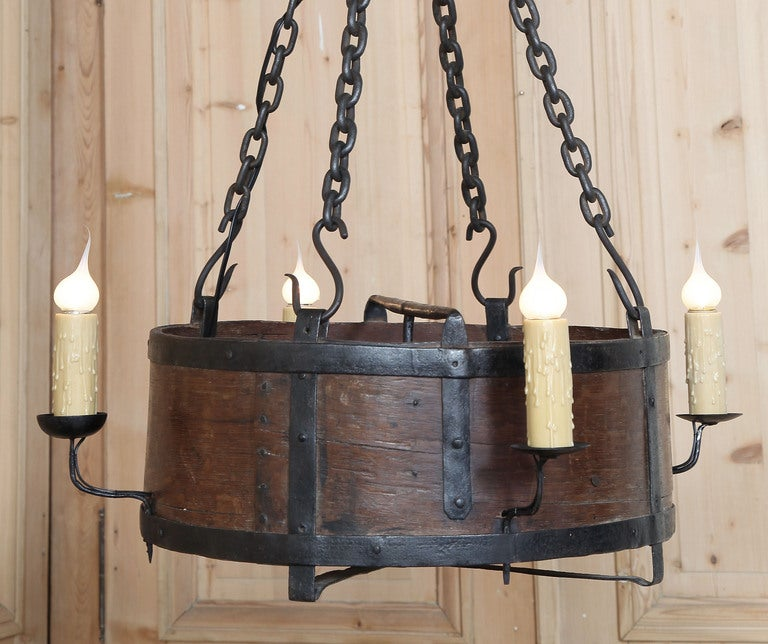 Rustic Antique Country French Chandelier At 1stdibs
