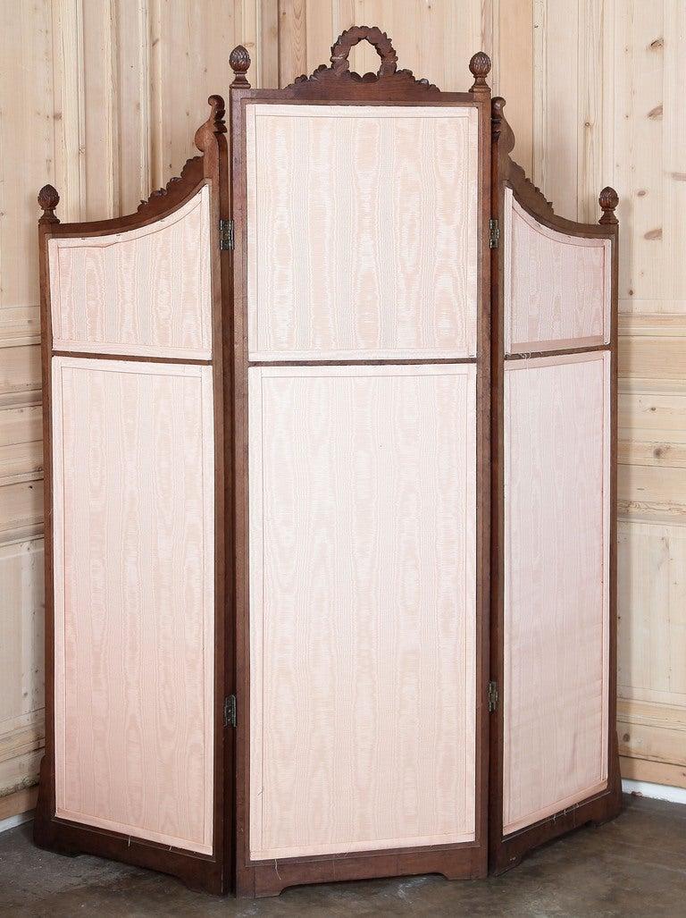 Antique louis xvi walnut dressing screen at stdibs