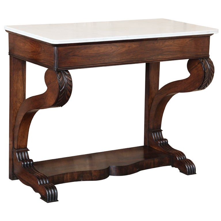 Antique Charles X Period Rosewood Console At 1stdibs