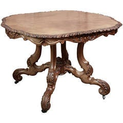 Antique French Napoleon III Center Table